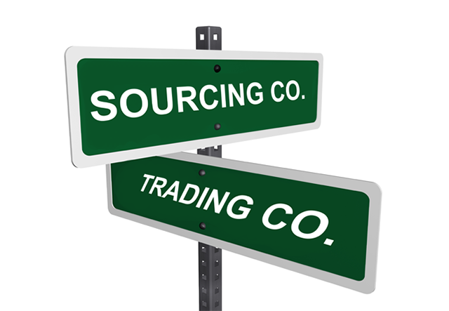 Sourcing vs trading company for Trading group